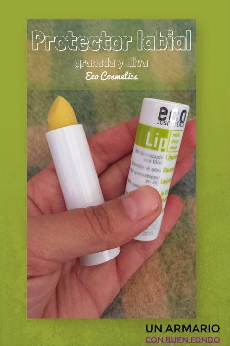 Protector labial de oliva y granada de Eco Cosmetics