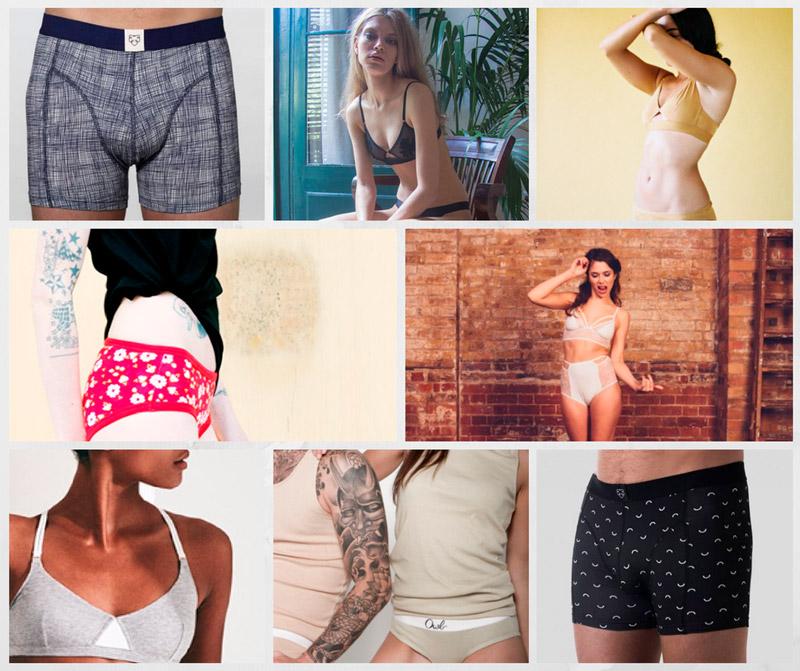 marcas de ropa interior ecologica para mujeres y hombres