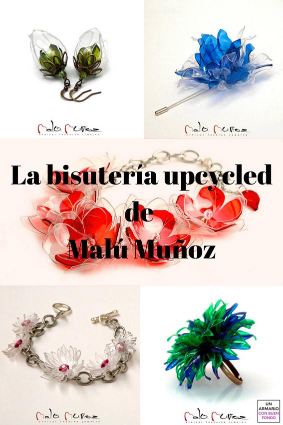 e70b7afc7031 Bisutería upcycled - Las flores de plástico de Malú Muñoz