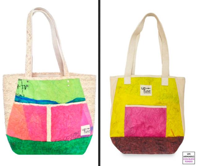 bolsos de materiales reciclados