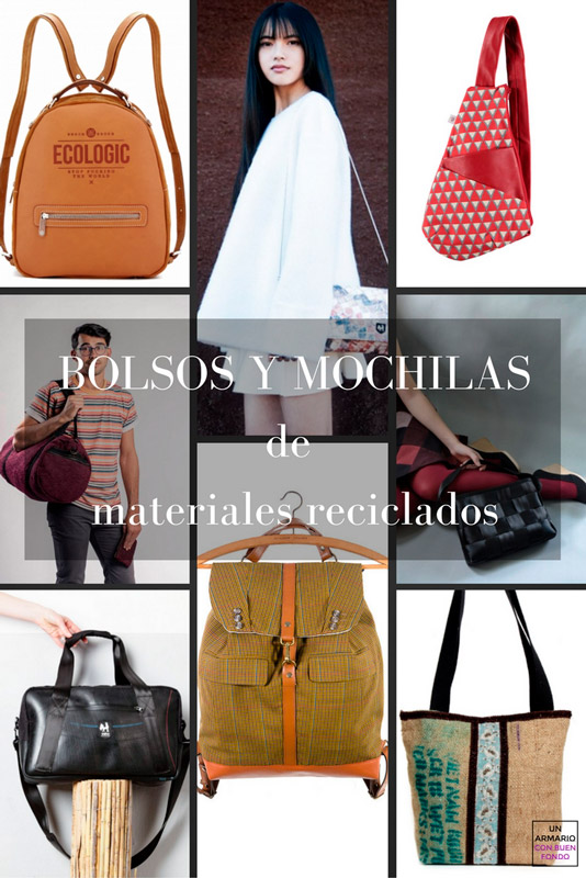 bolsos de materiales reciclados